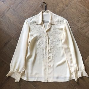 Vintage 100% Silk Button Down